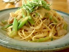 豚の生姜焼きスパゲッティ